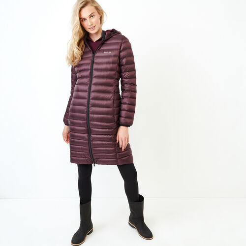 Roots-Women Outerwear-Roots Long Packable Jacket-Cabernet-A