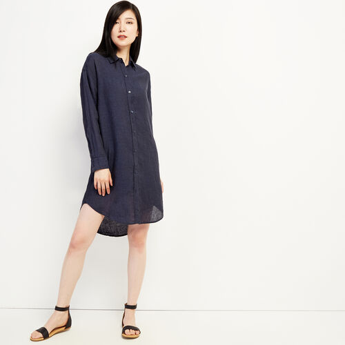 Roots-Women Dresses & Jumpsuits-Lachine Shirt Dress-Indigo-A