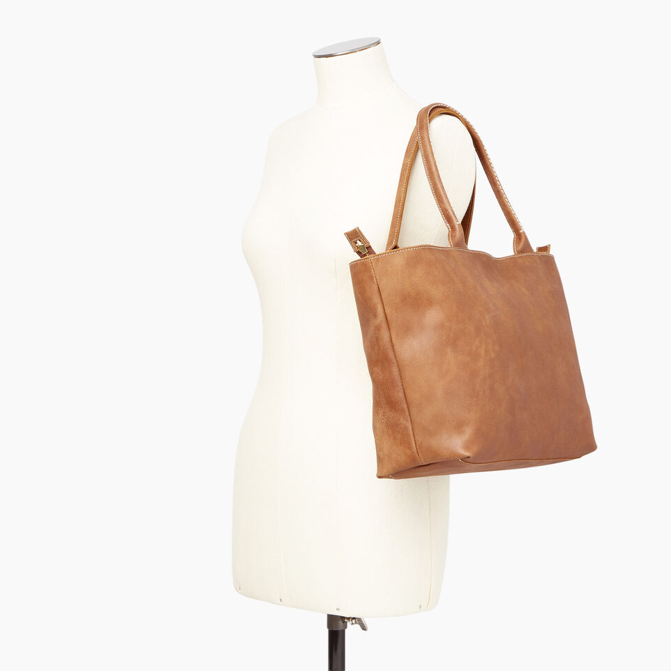 Roots-Leather Our Favourite New Arrivals-Mont Royal Tote-Natural-B