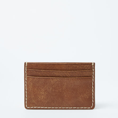Roots-Leather  Handcrafted By Us Wallets-Card Holder Tribe-Natural-A
