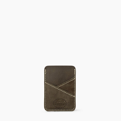 Roots-Leather Leather Accessories-Diagonal Card Holder Tribe-Pine-A