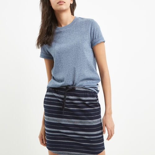 Roots-Women New Arrivals-Perfect Peppered T-shirt-Force Blue Pepper-A