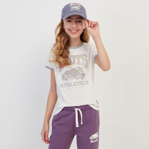 Roots-Kids Our Favourite New Arrivals-Girls RBA Ringer T-shirt-Egret-A