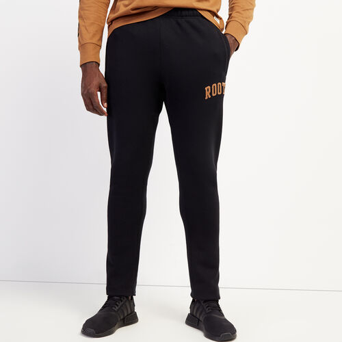 Roots-Men Bottoms-Roots Arch Park Slim Open Bottom Sweatpant-Black-A