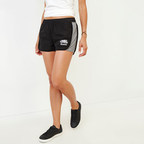 Roots-Women Categories-Beloeil Reversible Shorts-Salt & Pepper-A