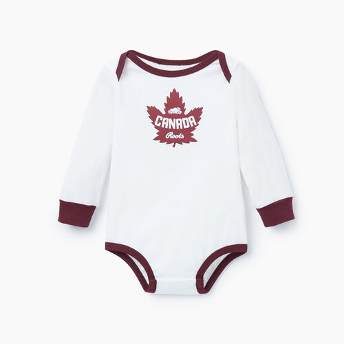 Roots-Kids Our Favourite New Arrivals-Baby Canada Bodysuit-Ivory-A