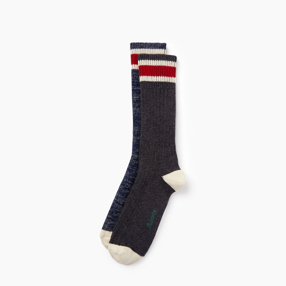 Roots-undefined-Mens Hockey Stripe Sock 2 Pack-undefined-B
