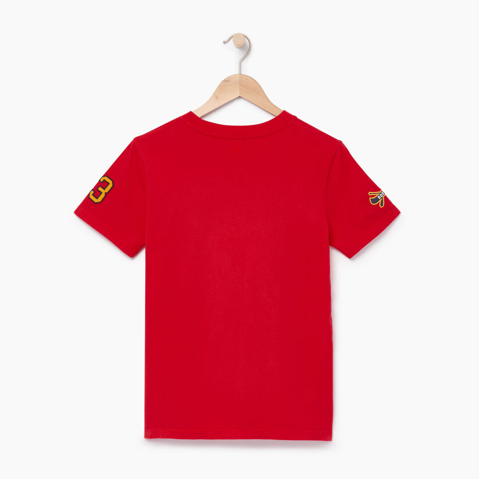 Roots-Women Our Favourite New Arrivals-Womens Patches T-shirt-Racing Red-B