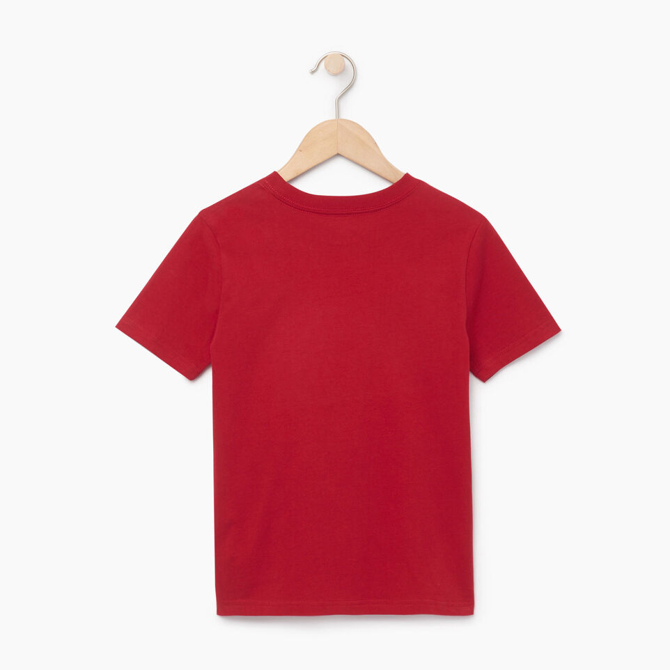 Roots-Kids Our Favourite New Arrivals-Boys Blazon T-shirt-Sage Red-B