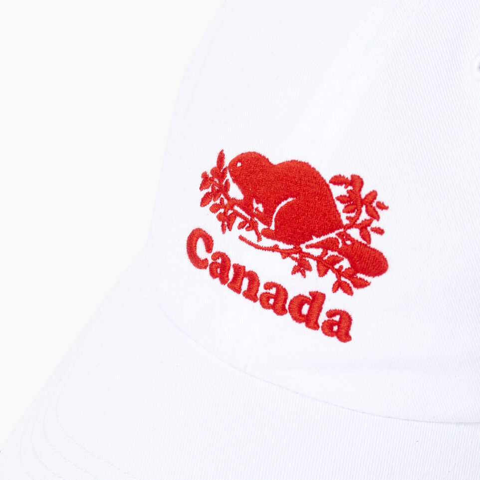 Roots-Men Our Favourite New Arrivals-Canada Baseball Cap-White-D