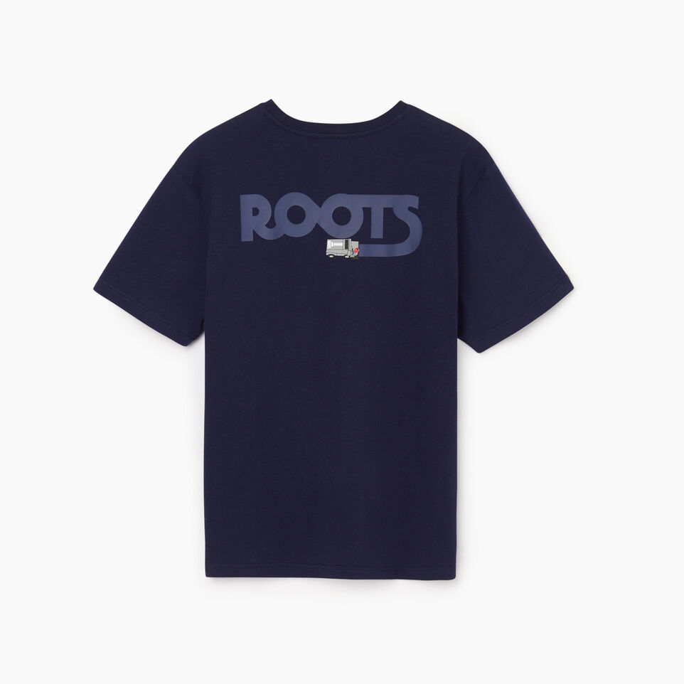 Roots-Men New Arrivals-Mens Centre Ice T-shirt-Starnight Blue-B