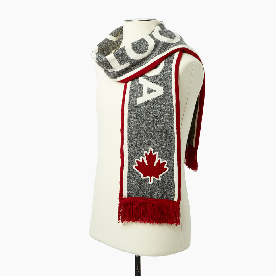 Roots-Men Canada Collection By Roots™-Canada Fan Scarf-Red-B