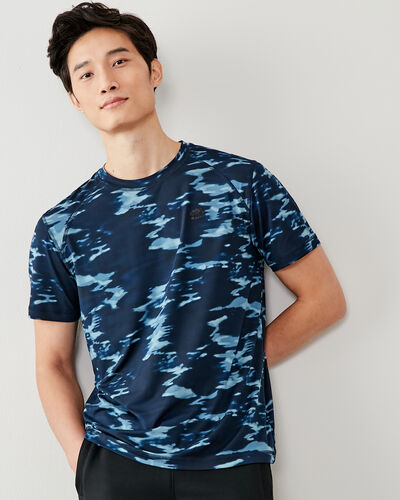 Roots-New For This Month Journey Collection-Journey T-shirt-Indigo-A