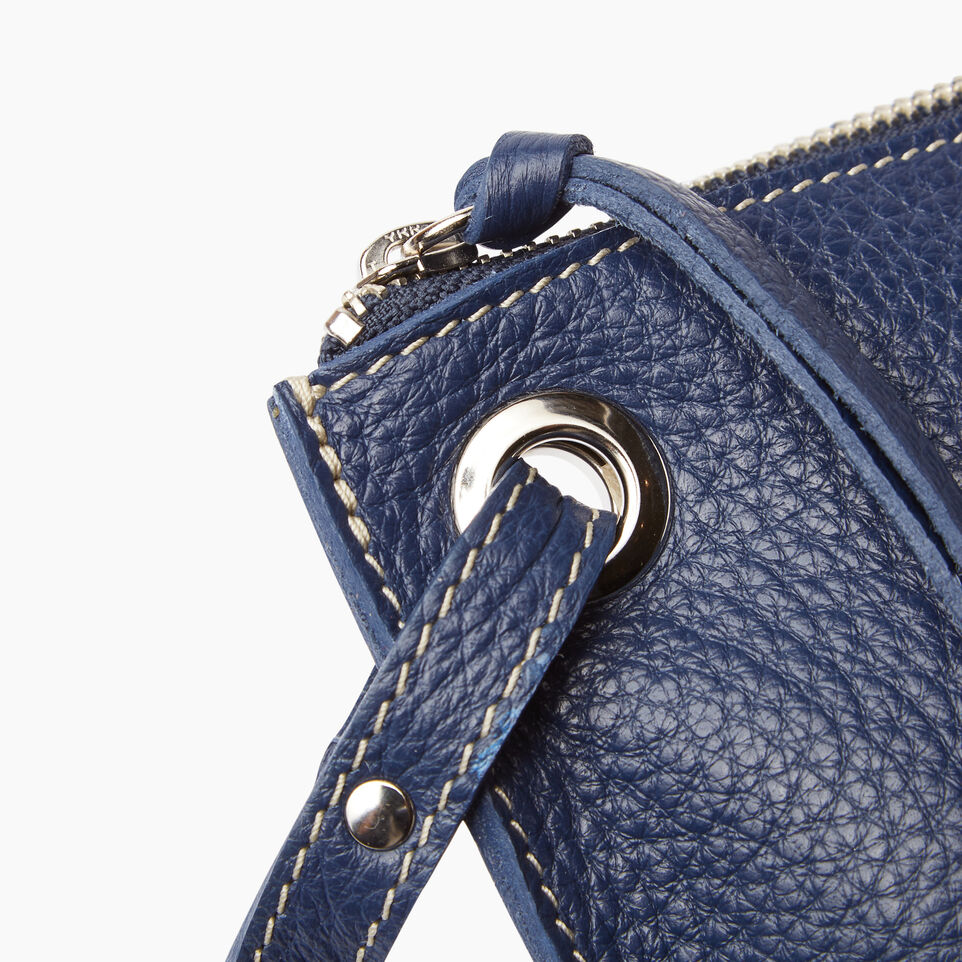 Roots-Leather  Handcrafted By Us Our Favourite New Arrivals-Festival Bag-Navy-E