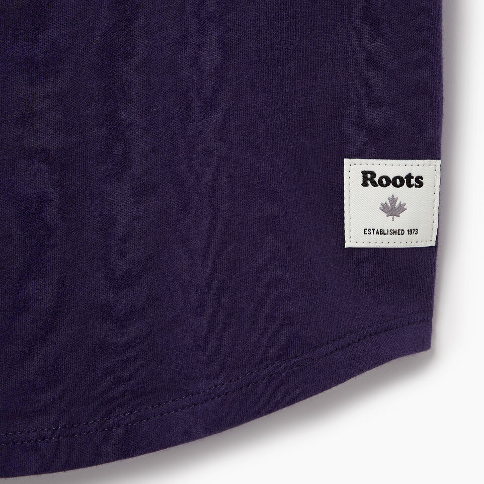 Roots-New For June Kids-Girls Camp T-shirt-Eclipse-C