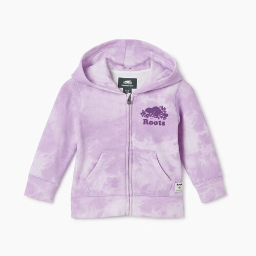 Roots-Kids Baby-Baby Original Full Zip Hoody-African Violet-A