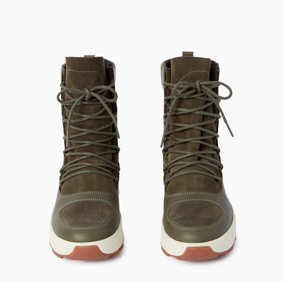 Roots-Clearance Footwear-Womens St Laurent Boot-Dusty Olive-D