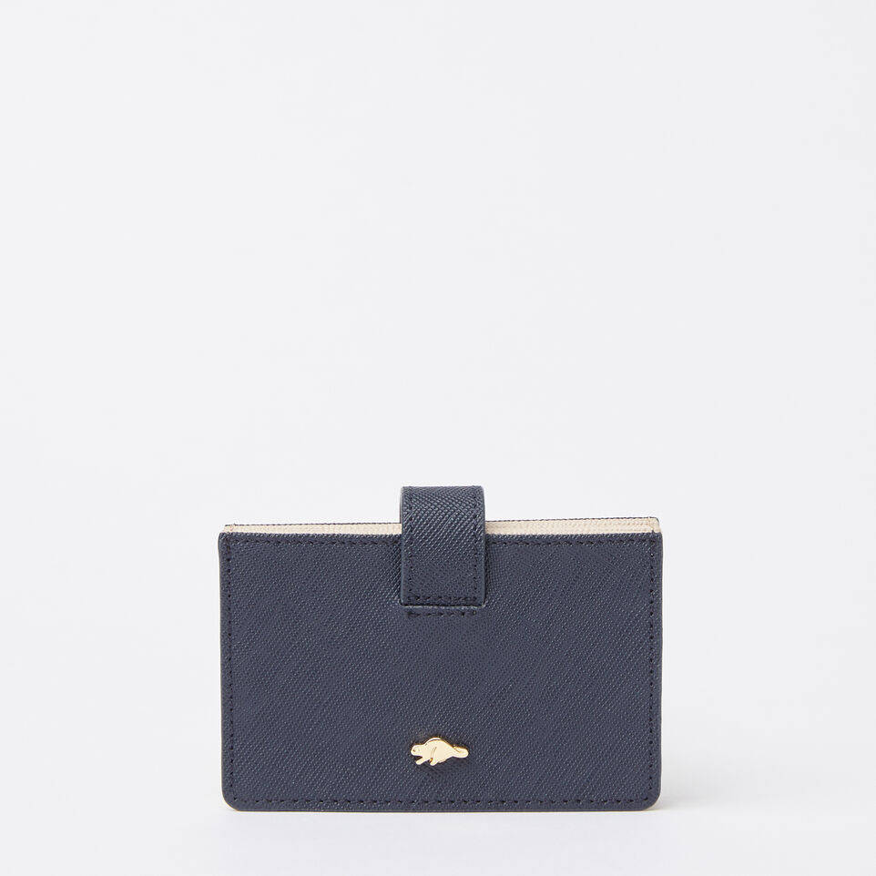 Roots-undefined-Multi Card Holder Saffiano-undefined-A