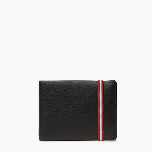 Roots-Leather  Handcrafted By Us Women's Wallets-Kensington Wallet-Black-A