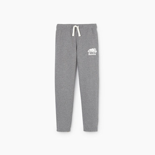 Roots-Kids New Arrivals-Boys Original Sweatpant-Medium Grey Mix-A