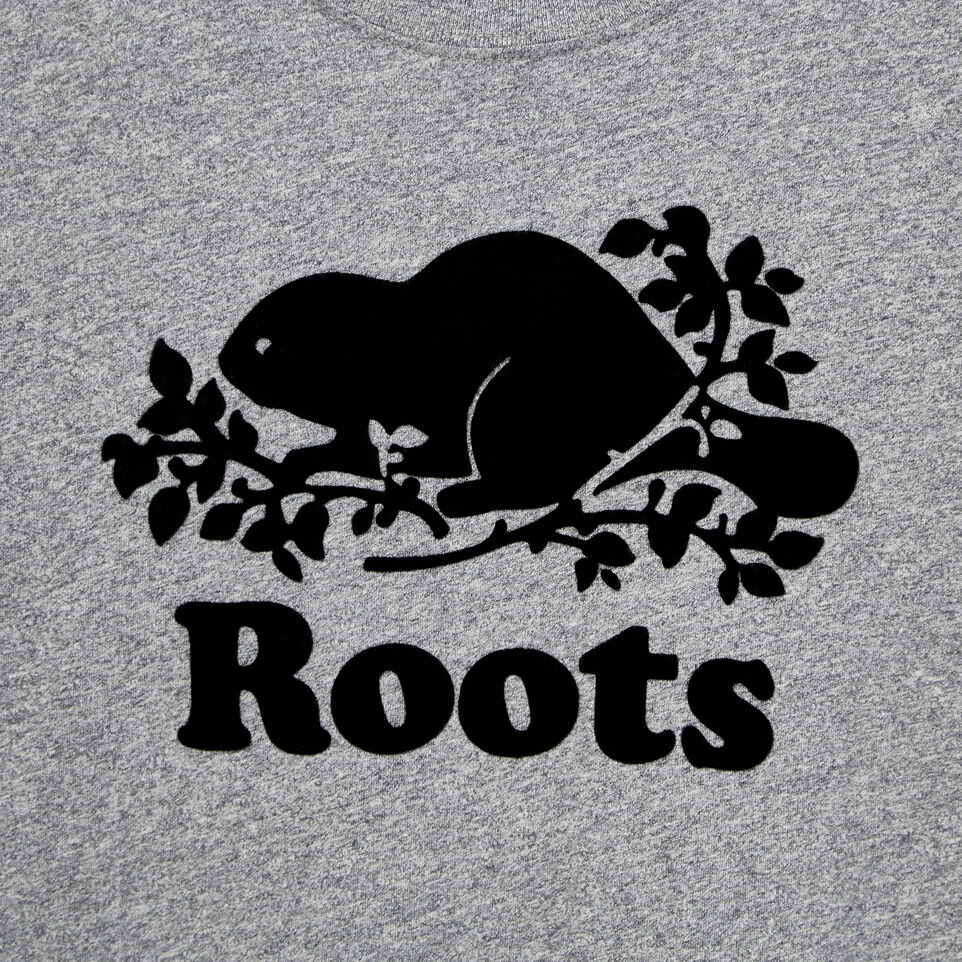 Roots-New For August Kids-Boys Original Cooper Beaver T-shirt-Salt & Pepper-D