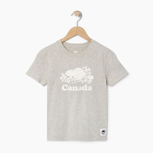 Roots-Kids Canada Collection-Boys Canada T-shirt-Grey Mix Pepper-A