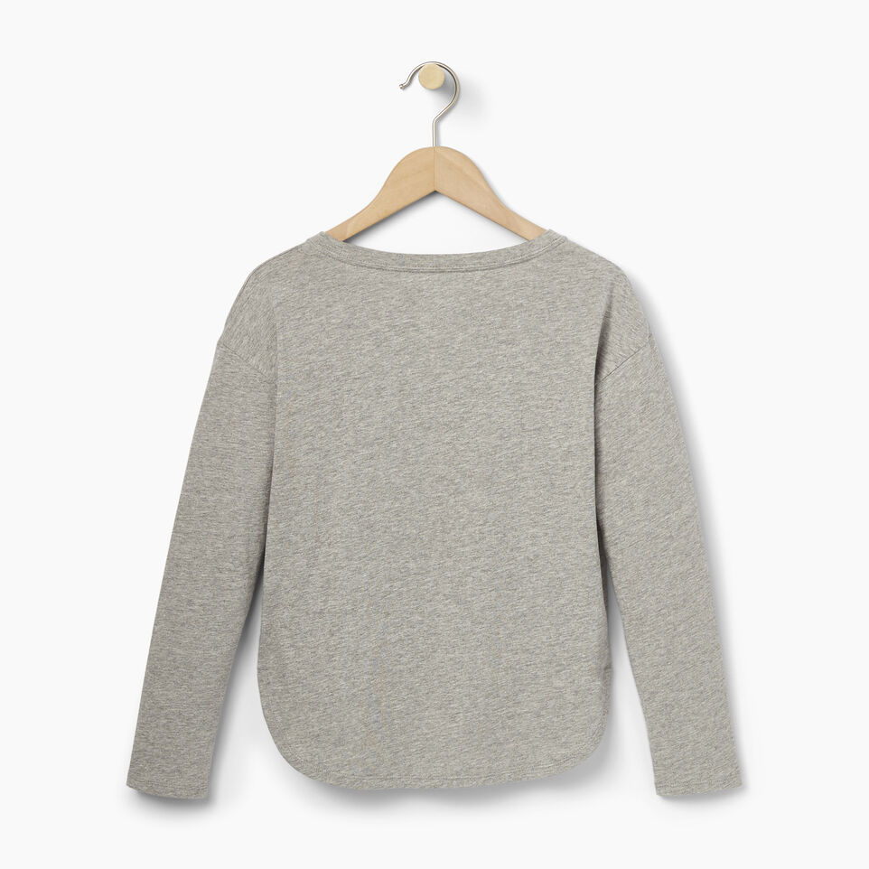 Roots-Clearance Kids-Girls Roots Classic Top-Grey Mix-B
