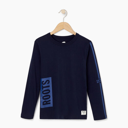 Roots-Kids Our Favourite New Arrivals-Boys Roots 1973 T-shirt-Navy Blazer-A