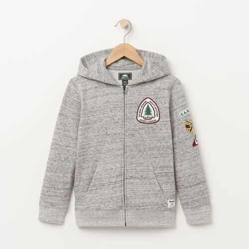 Roots-Sale Boys-Boys Patches Hoody-Grey Mix-A