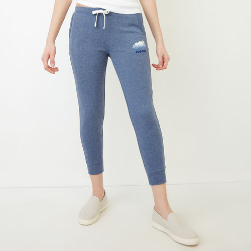 Roots-Women Sweatpants-Guernsey Sweatpant-Steel Blue Mix-A