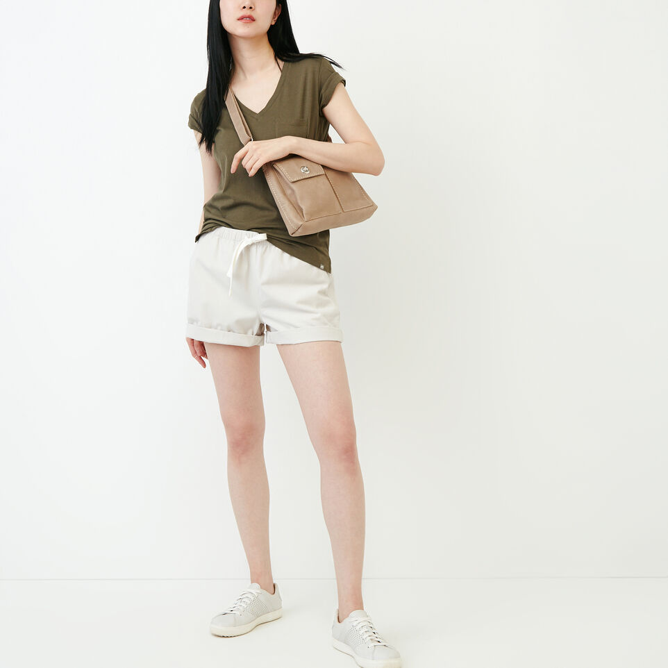 Roots-Women Our Favourite New Arrivals-Essential V T-shirt-Fatigue-B