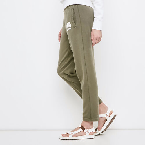 Roots-Women Cropped Sweatpants-Easy Ankle Sweatpant-Dusty Olive-A