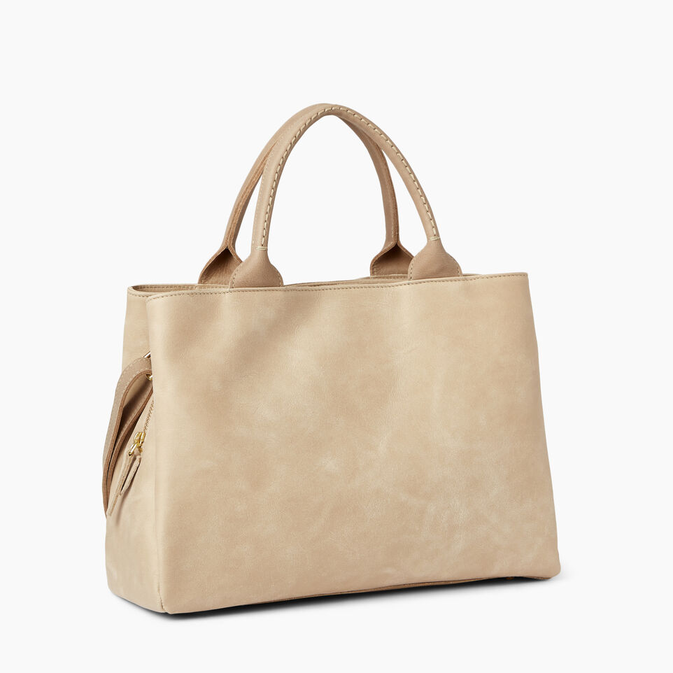 Roots-Leather  Handcrafted By Us Handbags-Mont Royal Bag-Sand/latté-C