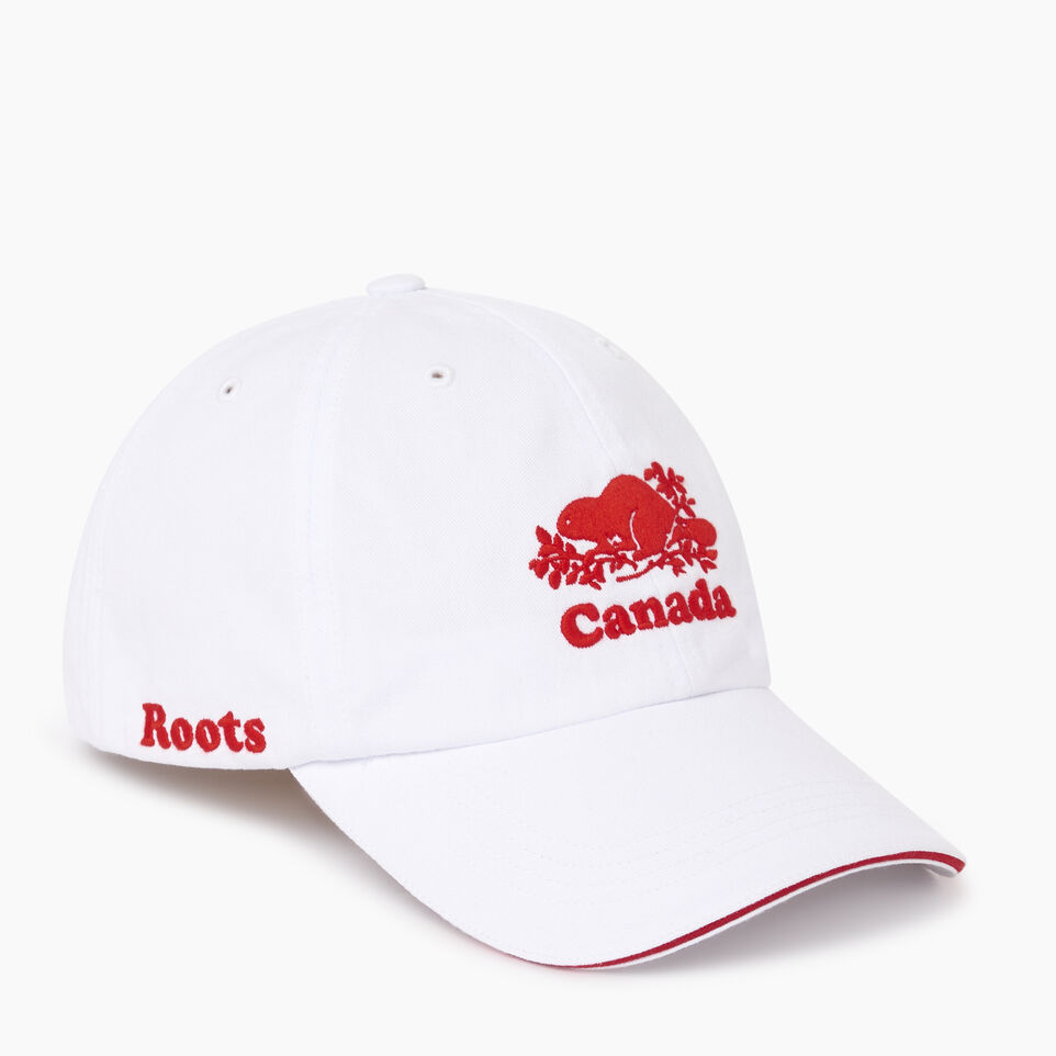 Roots-Men Our Favourite New Arrivals-Canada Baseball Cap-White-A