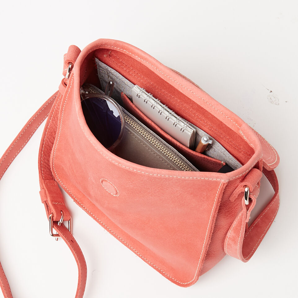 Roots-Leather New Arrivals-Canmore Crossbody Tribe-Coral-D
