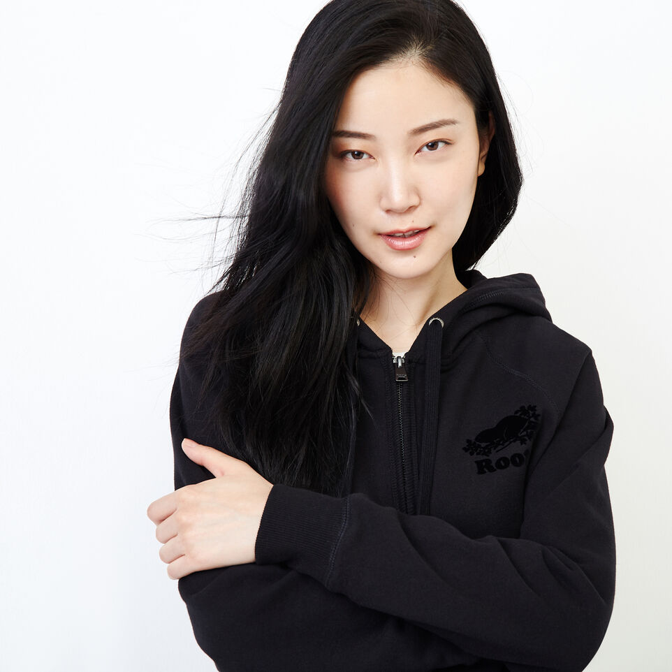 Roots-Women New Arrivals-Original Full Zip Hoody-Black-E