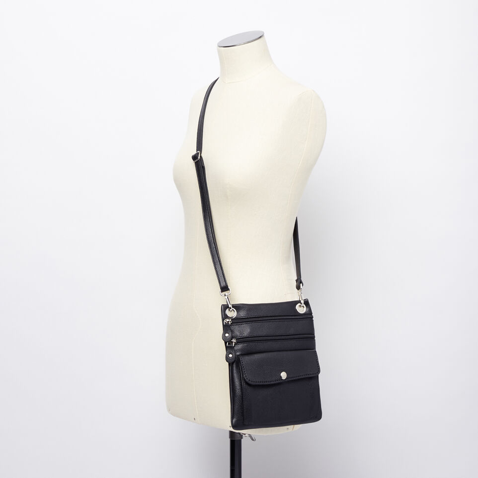 Roots-Leather Handbags-Urban Pouch-Black-B