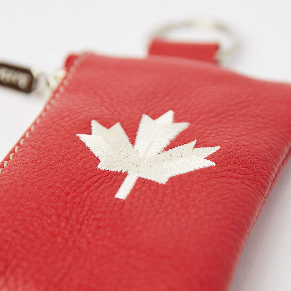 Roots-undefined-Maple Leaf Top Zip Pouch Prince-undefined-C