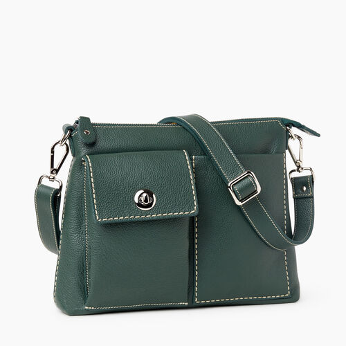 Roots-Women Crossbody-The Villager Cervino-Forest Green-A