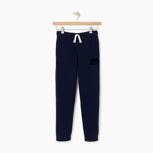 Roots-Kids Bottoms-Boys Original Sweatpant-Navy Blazer-A