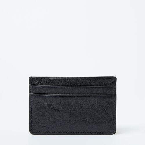 Roots-Leather  Handcrafted By Us Wallets-Card Holder Prince-Black-A