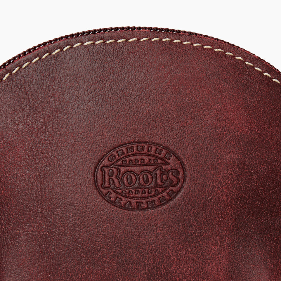 Roots-Women Leather Accessories-Small Euro Pouch-Crimson-D