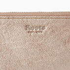 Roots-Leather  Handcrafted By Us Collections-Medium Card Wristlet-Champagne-E