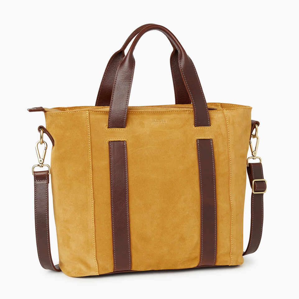 Roots-Women Clothing-Victoria Tote Suede-Squash Yellow-C