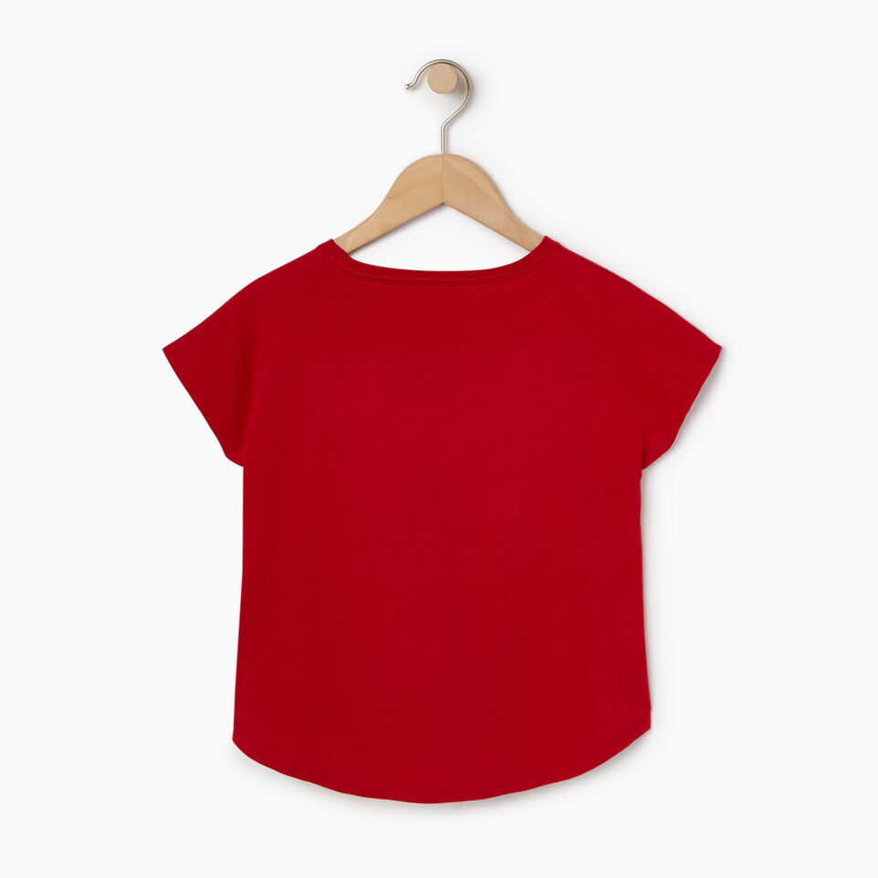 Roots-New For August Kids-Girls Confetti Canada T-shirt-Sage Red-B