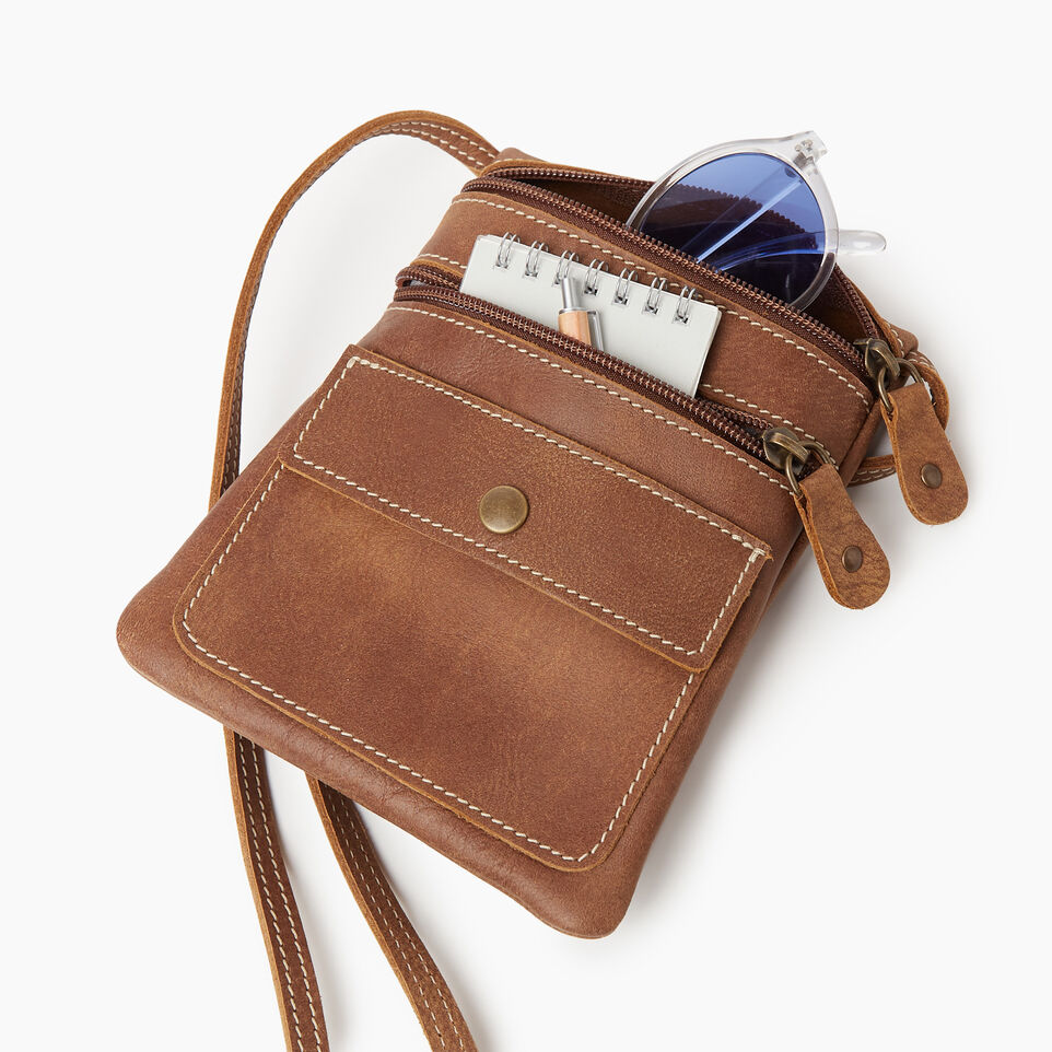 Roots-Leather New Arrivals-Hanging Pouch Tribe-Natural-D