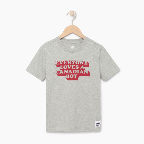 Roots-Kids Canada Collection-Boys Canadian Boy T-shirt-Grey Mix-A