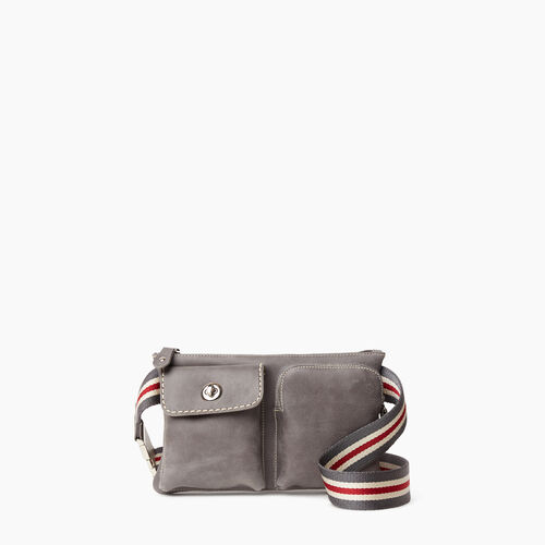 Roots-Leather Mini Leather Handbags-Smoke Lake Village Pack-Charcoal-A