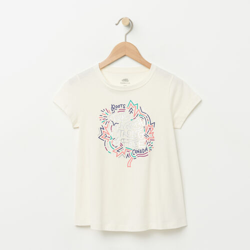 Roots-Sale Girls-Girls Swing T-shirt-Pristine White-A