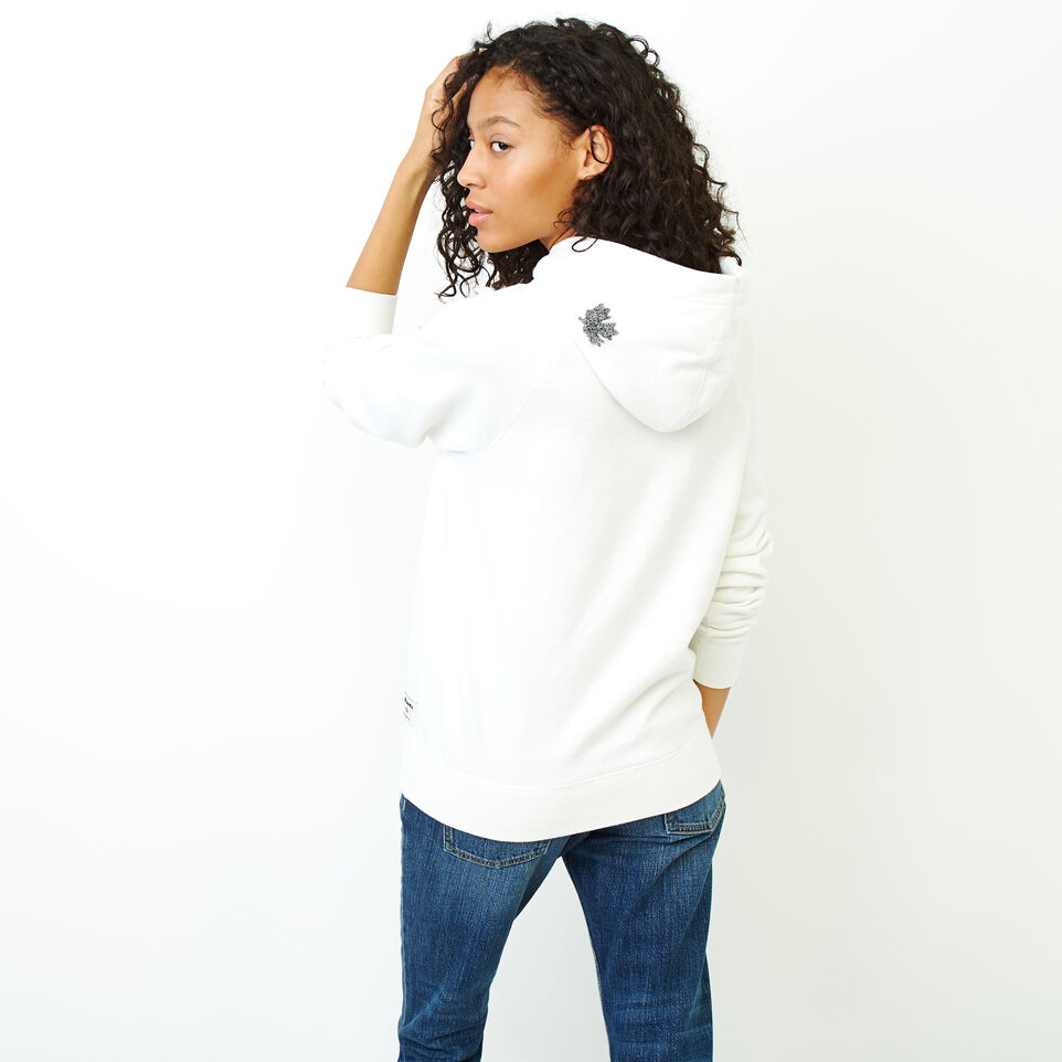 Roots-Women Clothing-Chenille Cooper Beaver Hoody-Ivory-D